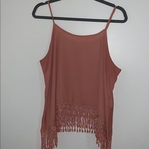Summer Tank With Fringe Detail